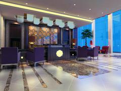 3d reception hall rendering Stock Illustration