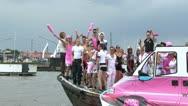 Gay Pride Canal Parade Amsterdam 2012 Stock Footage