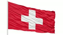 Suisse flag animation Stock Footage