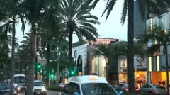 Rodeo Dr Los Angeles Stock Footage