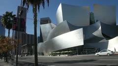 Walt Disney Concert Hall Los Angeles pan Stock Footage