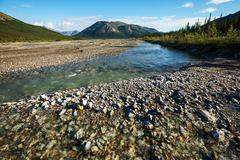 river on alaska - stock photo