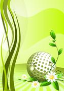 Abstract golf background - stock illustration