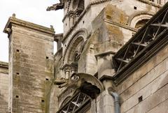 gargoyle of the Church Saint Eusèbe  (Auxerre Bourgogne France) - stock photo
