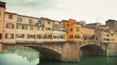 Florence - Bridge on Arno river 12 - stock footage