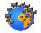 Global communication concept Stock Illustration