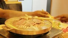 Grilled Pork Korea - Asian food Stock Footage