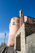 church of S. Erasmus in Sori - stock photo