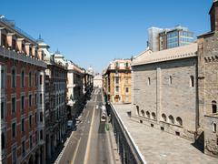The main street of Genoa Stock Photos