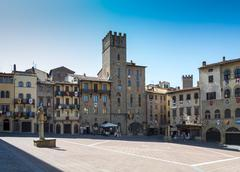The main square of Piazza Arezzo - stock photo