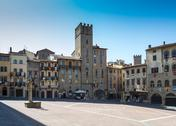 Stock Photo of The main square of Piazza Arezzo