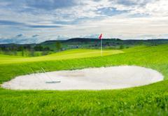 Golf putting green Stock Photos