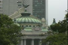 Rio de Janerio, Brazil, Opera House, Cinelandia Square, close up Stock Footage