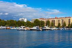 Summer Helsinki cityscape - stock photo