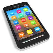 Touchscreen smartphone - stock illustration