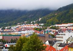 Panorama of Bergen, Norway Stock Photos
