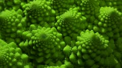 Romanesco broccoli cabbage. - stock footage