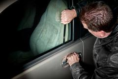 Automobile thief Stock Photos