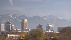 Salt Lake City Skyline Stock Footage