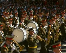 A military orchestra Stock Footage