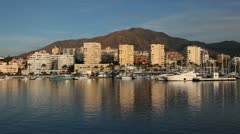 Marina of Estepona, Costa del Sol, Andalusia Spain Stock Footage