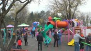 Stock Video Footage of Children Playing at Playground, Families with Kids Outside in Park