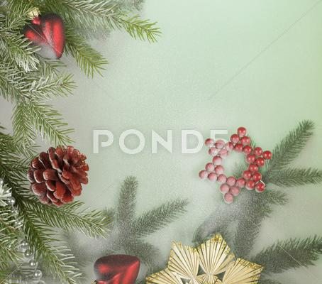 Stock photo of decorative christmas back