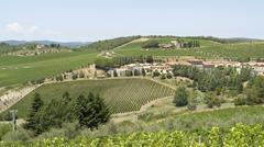 chianti in tuscany - stock photo