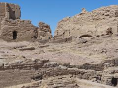 ruins at qasr dusch - stock photo