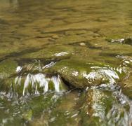 stony stream detail - stock photo