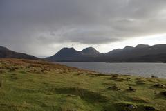 Stock Photo of loch bad a gail with dramatic sky