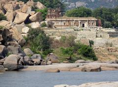 Stock Photo of around tungabhadra river river