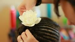 Hair Flower Stock Footage