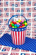 fourth of july gumballs - stock photo