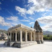 ranakpur hinduism temple in india - stock photo