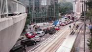 Time Lapse Day Traffic in Central, Hong Kong Stock Footage