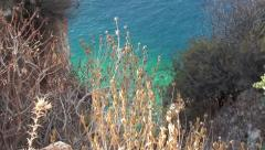 Zoom in sea precipice Stock Footage