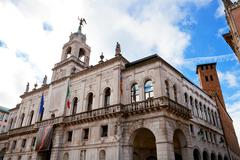 palazzo moroni in padua, italy - stock photo
