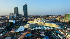 Timelapse of Phnom Penh Central Market - 1080p Stock Footage