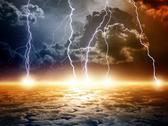 Dramatic apocalyptic background Stock Illustration