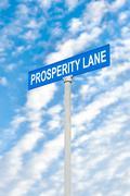 prosperity street sign against sky - stock photo