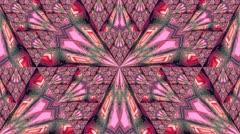 Pattern in triangular mirrors Stock Footage