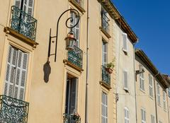 Exterior of homes in france Stock Photos