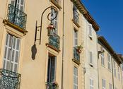 Stock Photo of exterior of homes in france