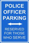 Police parking sign Stock Photos