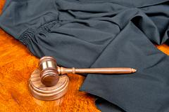 Gown and gavel Stock Photos