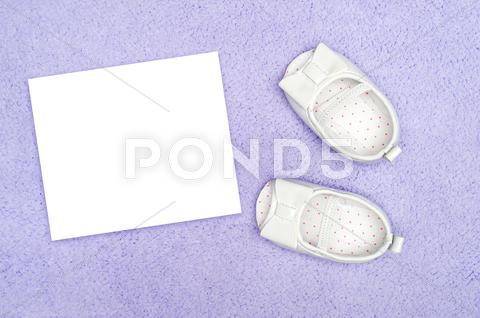Stock photo of baby shoes