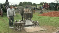 Stone braking machine 09 Stock Footage