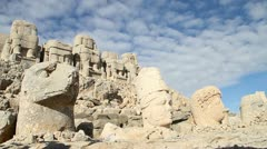 Altar on the Nemrut Dag, Turkey Stock Footage
