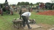Stone braking machine 08 Stock Footage